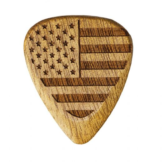 Flag Tones Stars & Stripes Rose Apple 1 Guitar Pick